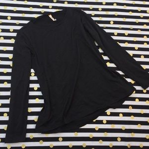 Lucy black work out top long sleeve